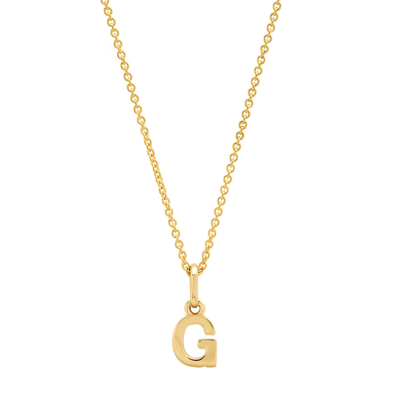 Mini Uppercase Letter Necklace - G
