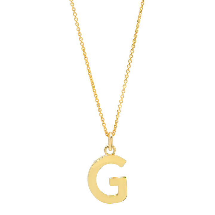 Uppercase Letter Necklace - G