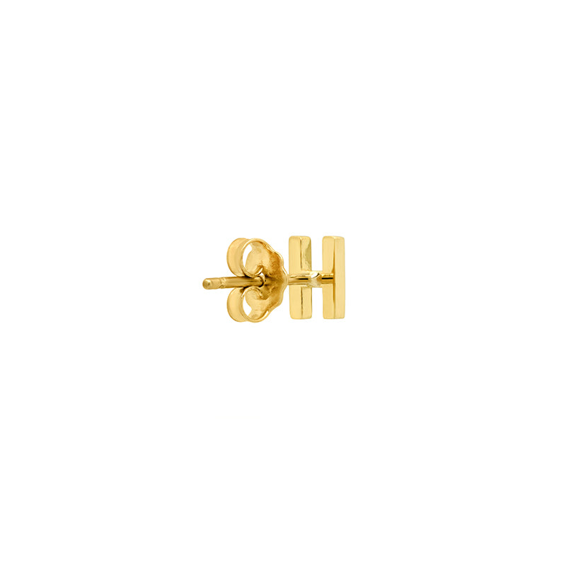 Diamond Mini Uppercase Letter Stud - H