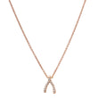 Rose Gold Diamond Mini Wishbone Necklace