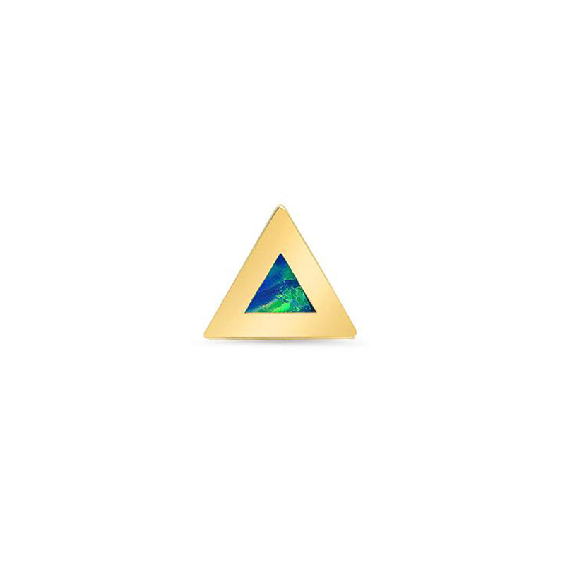 Half Pair Opal Inlay Triangle Studs