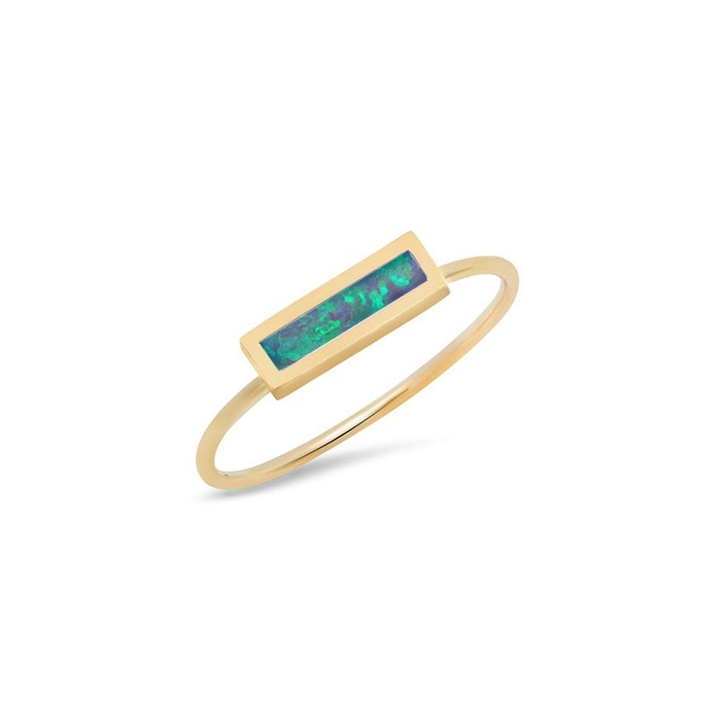 Opal Inlay Bar Ring