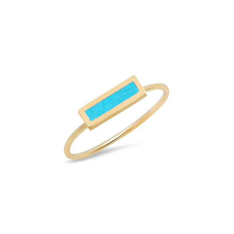 Turquoise Inlay Bar Ring