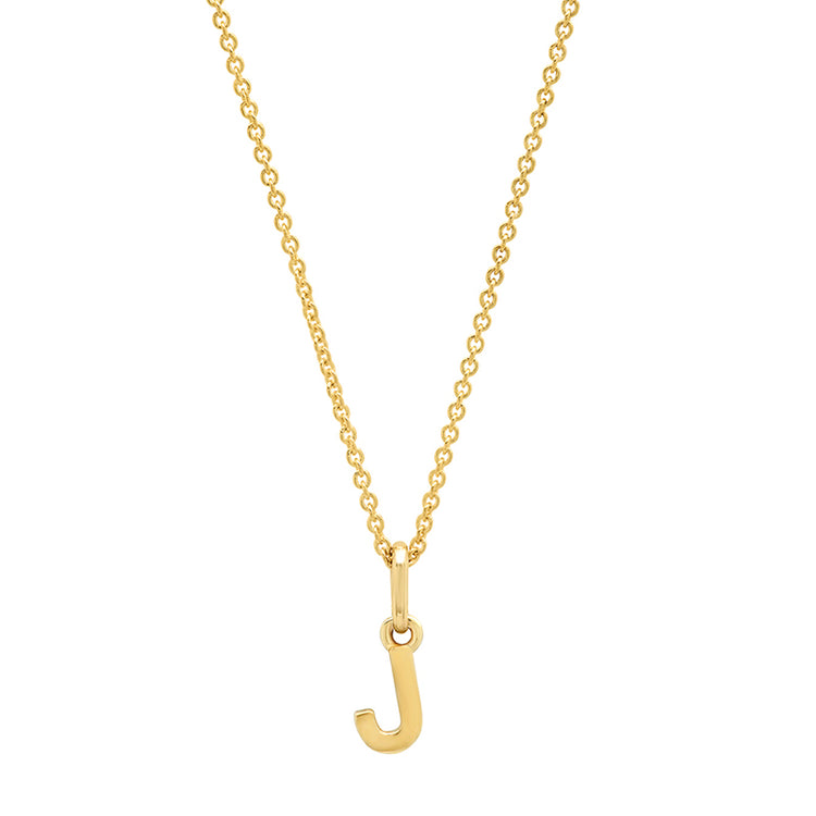 Mini Uppercase Letter Necklace - J