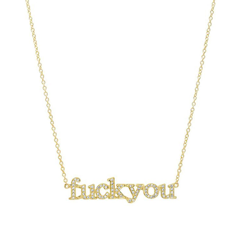 Diamond Fuck You Necklace