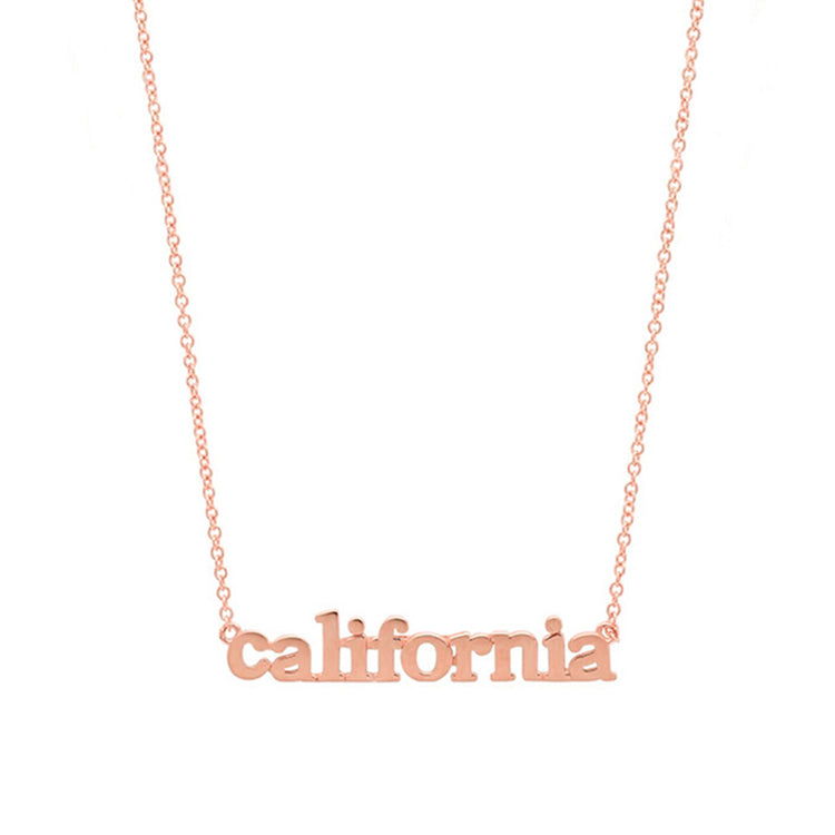 Rose Gold California Necklace