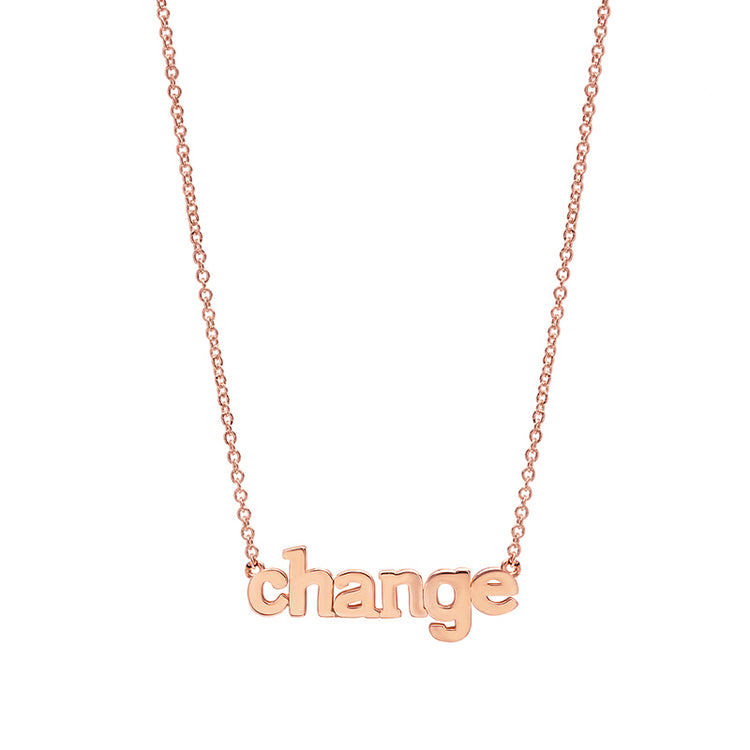 Rose Gold Change Necklace