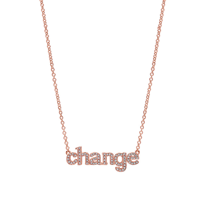Diamond Rose Gold Change Necklace