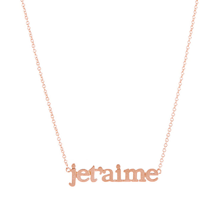 Rose Gold Je t'aime Necklace