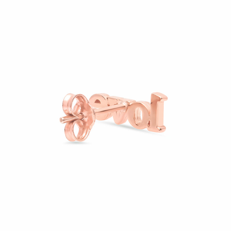 Rose Gold Love Stud