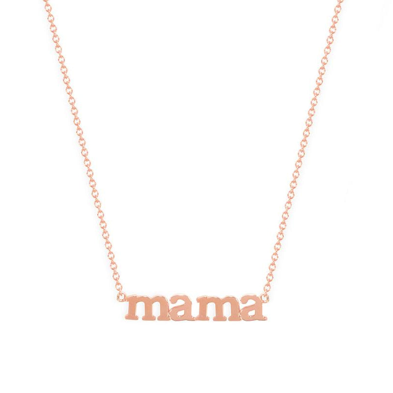 Rose Gold Mama Necklace