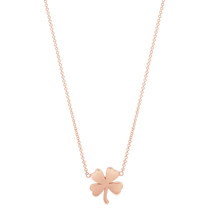 Rose Gold Mini Clover Necklace