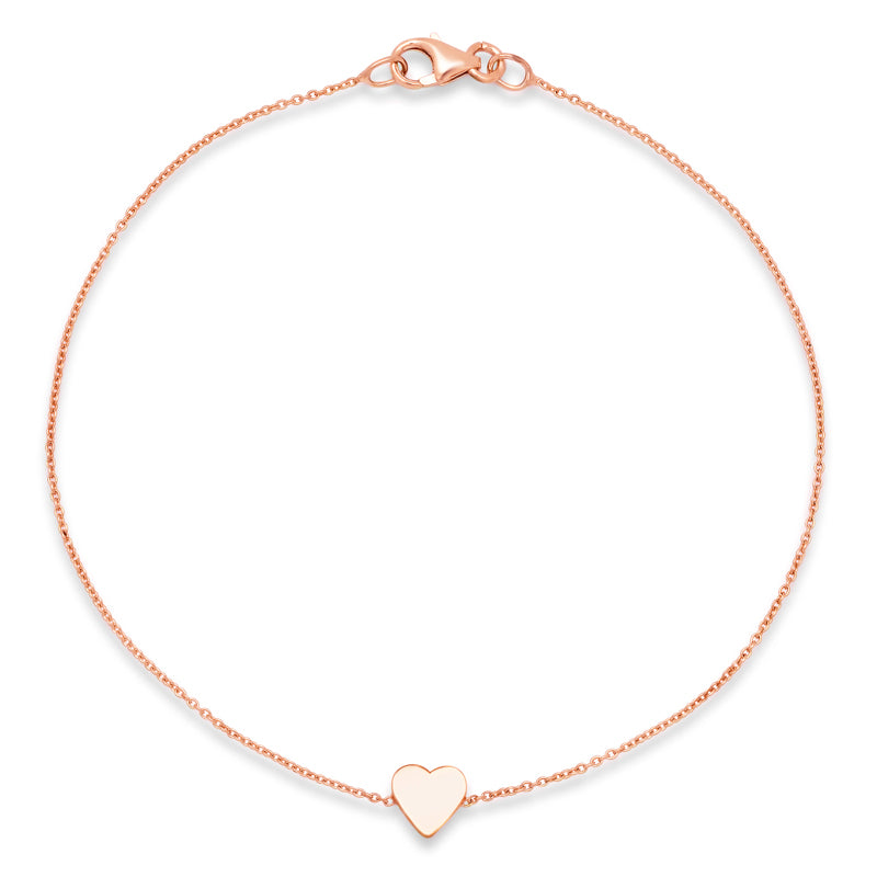 Rose Gold Mini Heart Bracelet