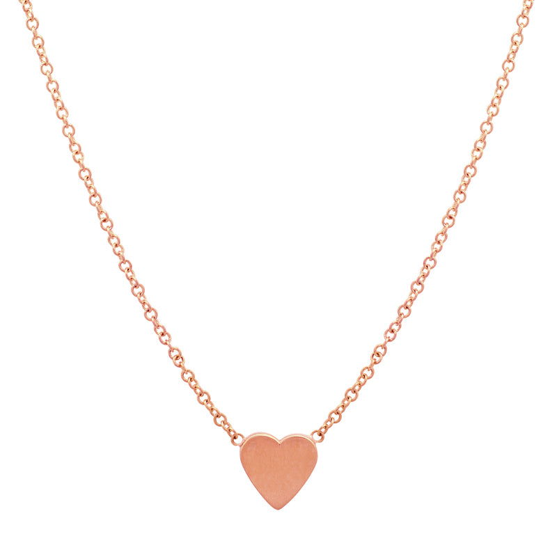 Rose Gold Mini Heart Necklace