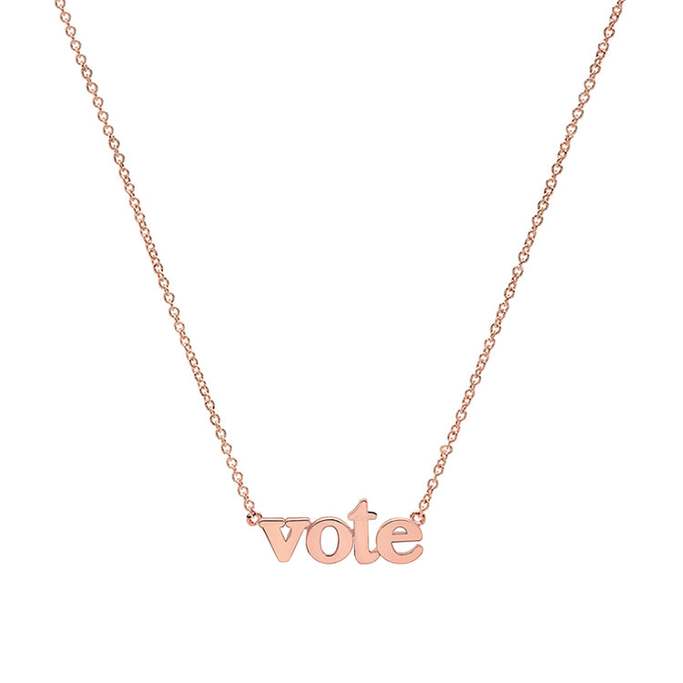 Rose Gold Vote Necklace