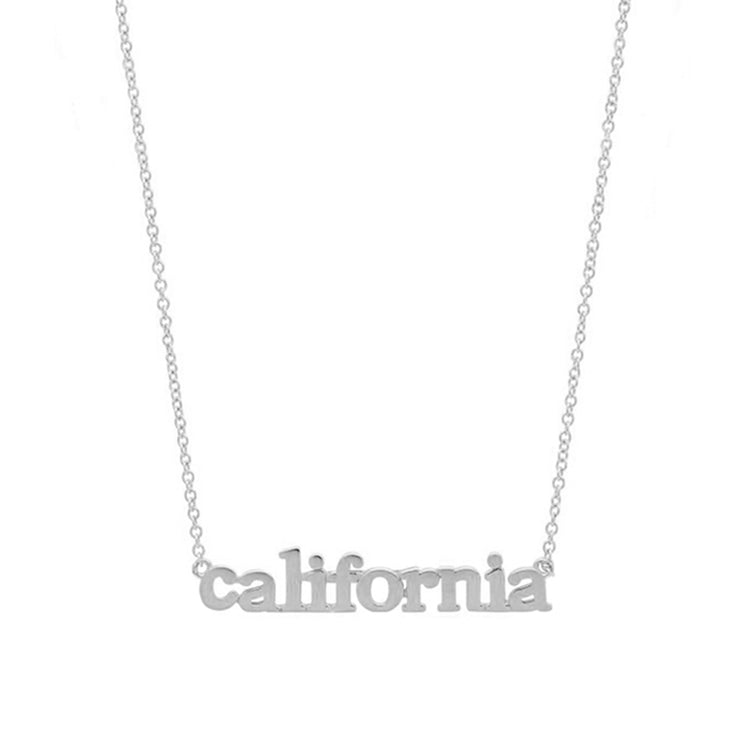 White Gold California Necklace