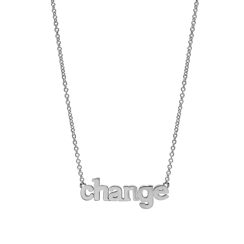 White Gold Change Necklace