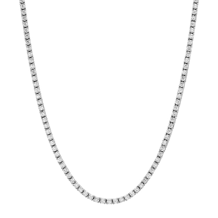 White Gold Diamond 4 Prong Tennis Necklace