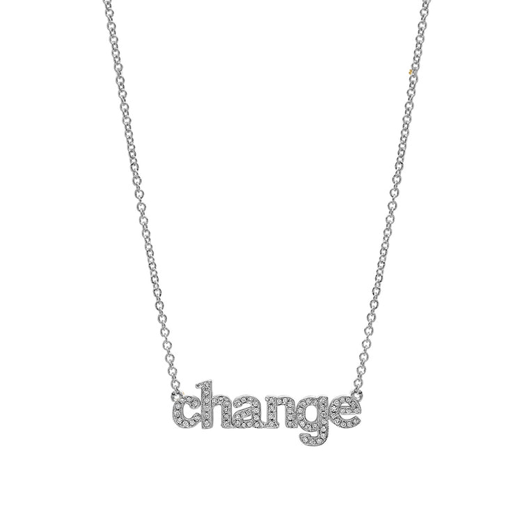 Diamond White Gold Change Necklace