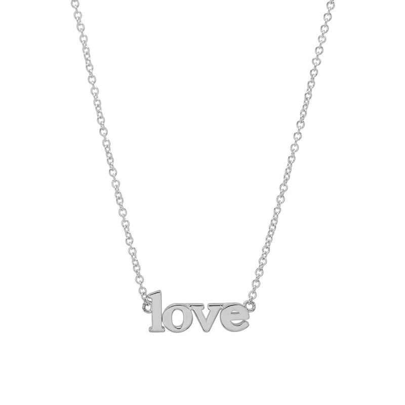 White Gold Love Necklace