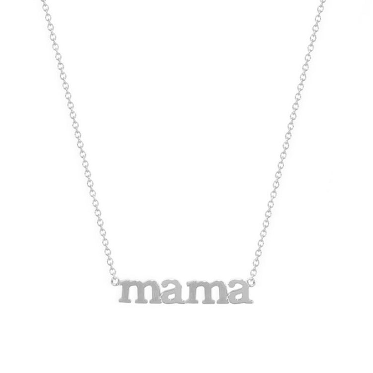 White Gold Mama Necklace
