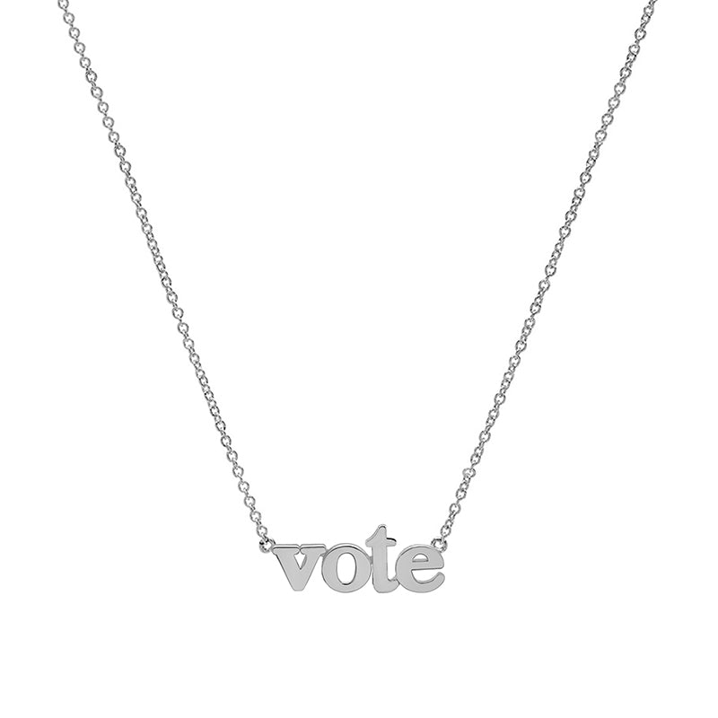 White Gold Vote Necklace