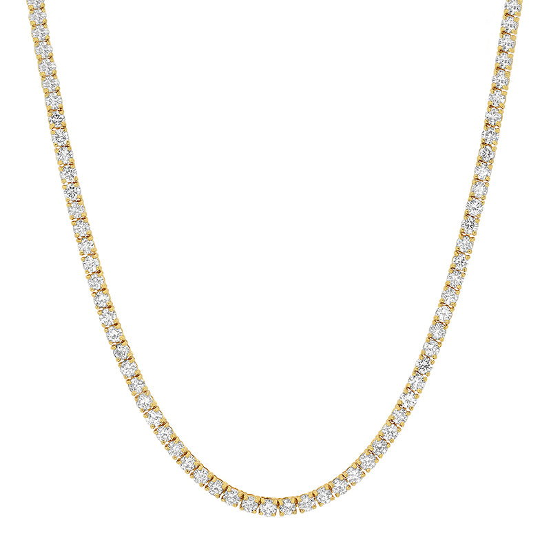 Large 4-Prong Diamond Tennis Necklace