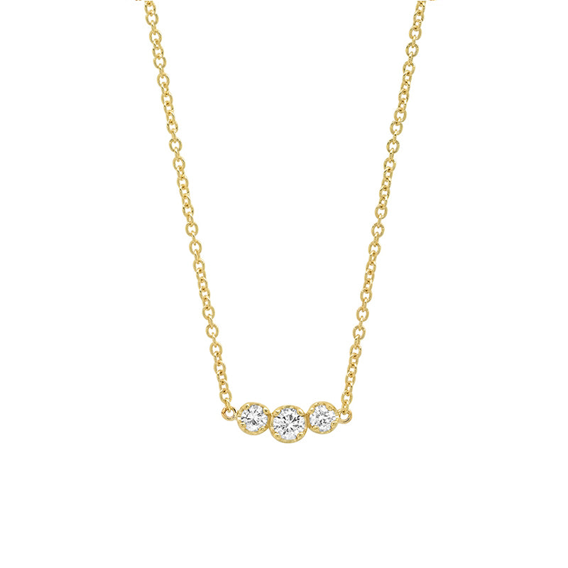 3 Illusion-Set Diamond Necklace