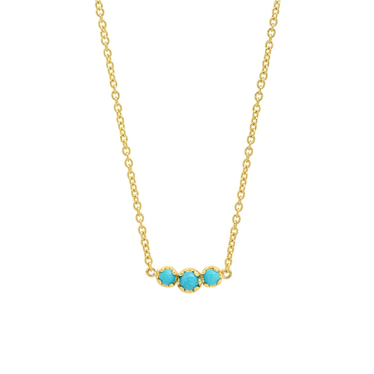 3 Illusion-Set Turquoise Necklace