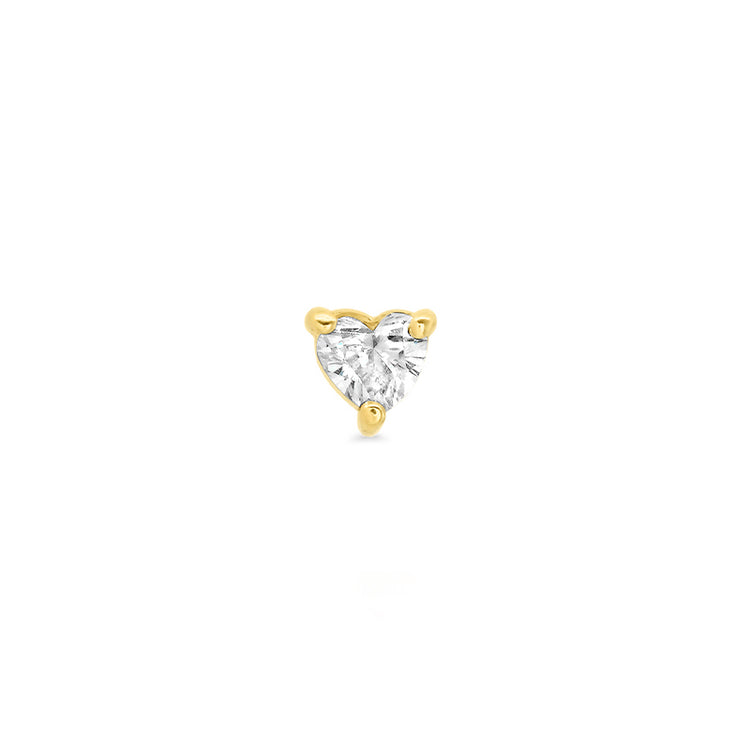 Heart-Cut Diamond Stud