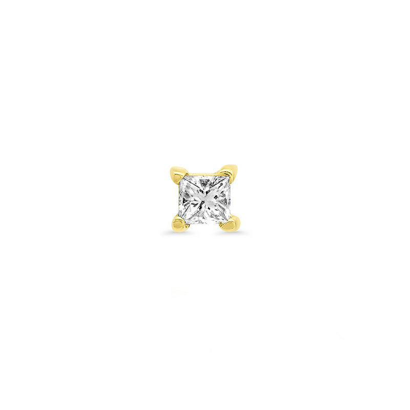 Princess-Cut Diamond Stud