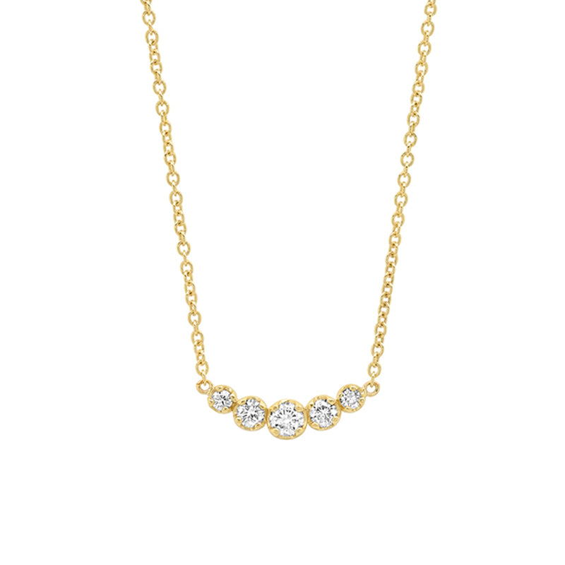 5 Illusion-Set Diamond Necklace