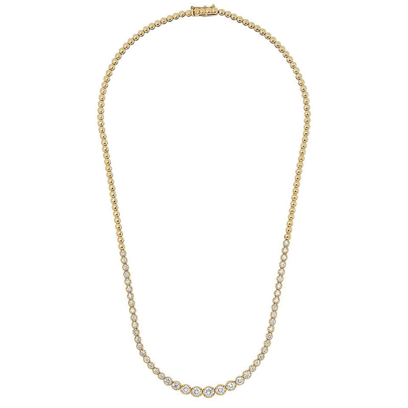 Graduated Diamond Tennis Necklace