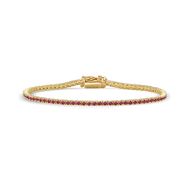 Ruby 4 Prong Tennis Bracelet