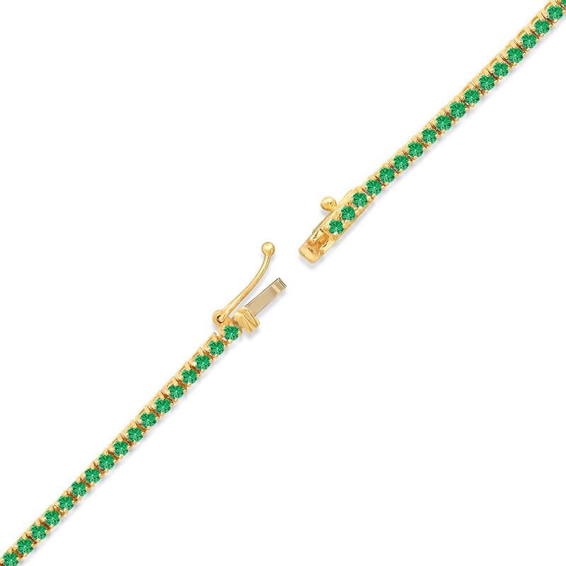 Emerald 4-Prong Tennis Necklace