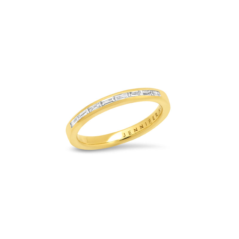 Channel Set Diamond Baguette Ring