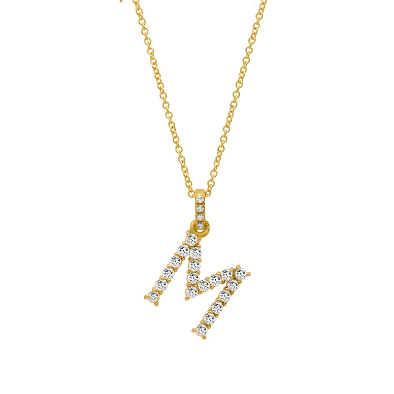 Diamond Letter Necklace - M