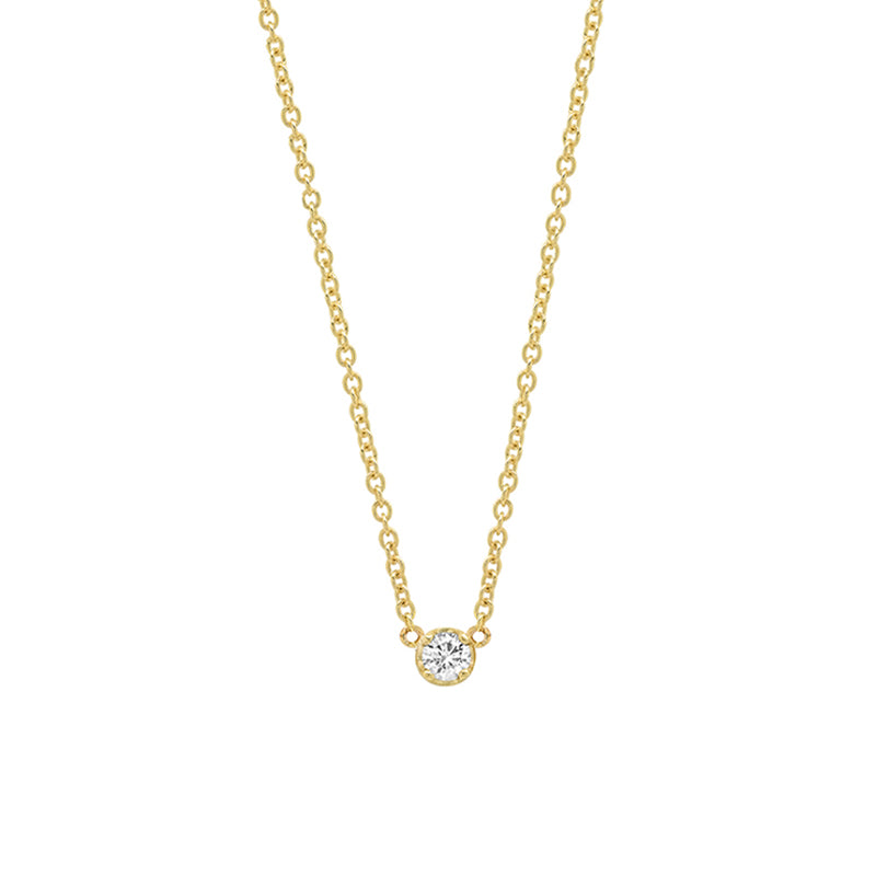 Illusion-Set Diamond Necklace