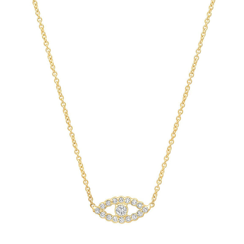 Diamond Mini Open Evil Eye Necklace