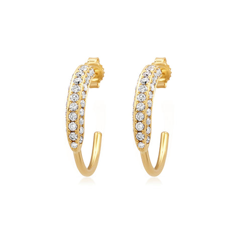 Small 3-Sided Diamond Hoops