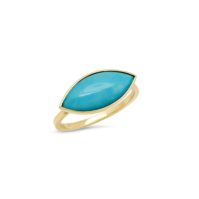 Large Turquoise Marquise Ring
