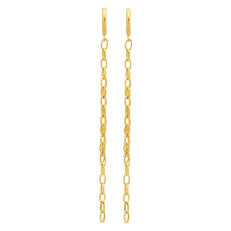 Edith Link Studs with Long Small Edith Link Fringe