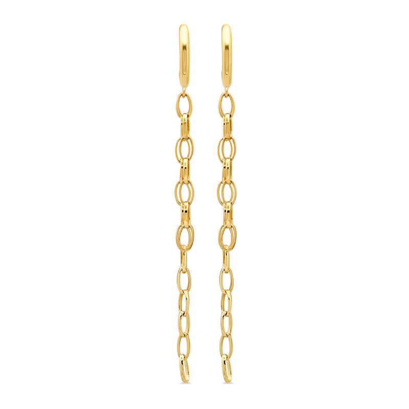 Edith Link Studs with Small Edith Link Fringe