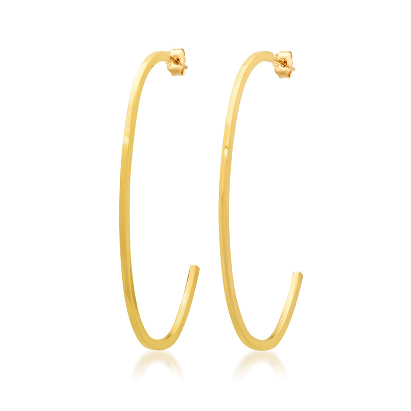Large Elongated Edith Link Hoops