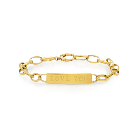 Medium Edith Link Bracelet with Nameplate