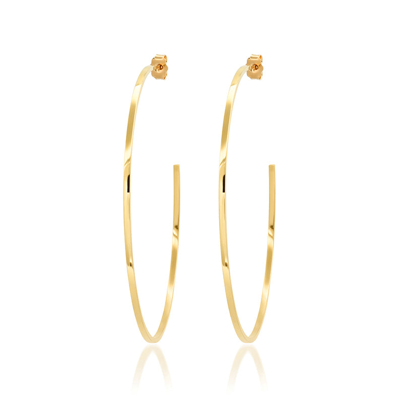 Medium Thin Hoops