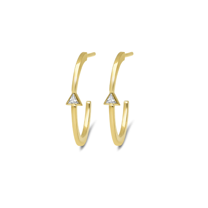 Trillion-Cut Diamond Hoops