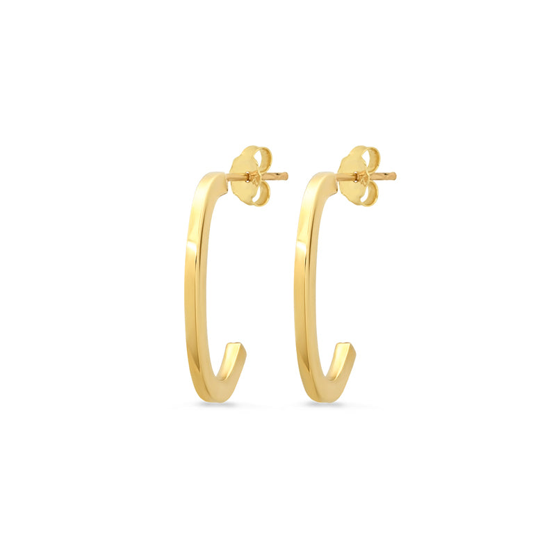 Small Elongated Edith Link Hoops