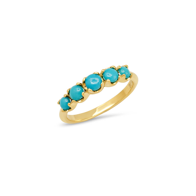 Graduated Turquoise Ring