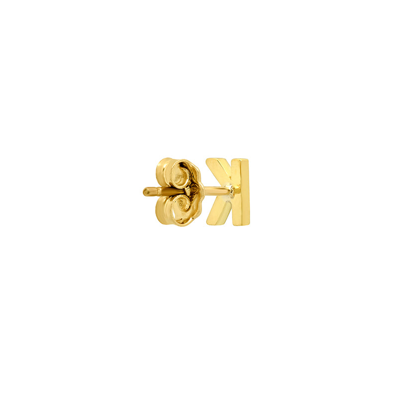 Diamond Mini Uppercase Letter Stud - K